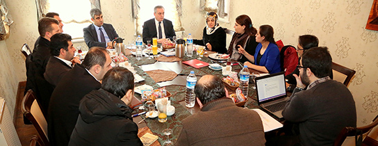 Sitesi eyüp te ilçe sosyal yardım koordinasyon toplantısı