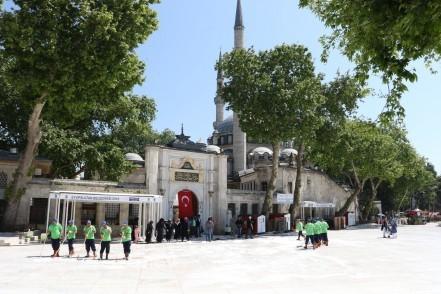 Eyüp Sultan Camii, Eyüpsultan Belediyesi Temizlik İşleri Müdürlüğü, temizlik
