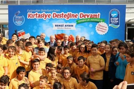 Eyüpsultan Belediyesi, Kırtasiye Destek Kampanyası, Eyüpsultan Belediye Başkanı Remzi Aydın,  Dede Korkut İmam Hatip Ortaokulu