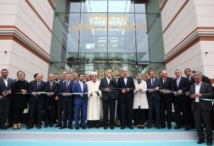 Cumhurbaşkanı Recep Tayyip Erdoğan, TÜGVA, açılış