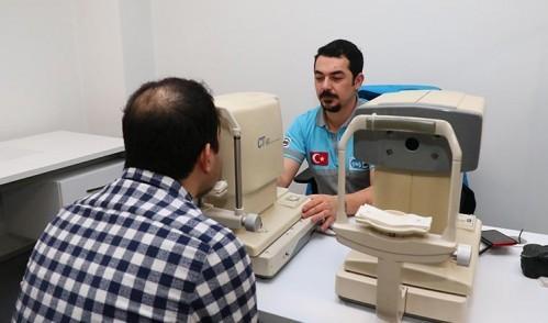 Eyüpsultan Belediyesi personeline sağlık taraması yapıldı