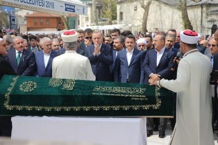 Başkan Recep Tayyip Erdoğan, cenaze, Hayati Yazıcı