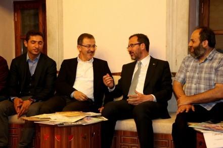 Gençlik ve Spor Bakanı Dr. Mehmet Muharrem Kasapoğlu, Eyüpsultan, ziyaret