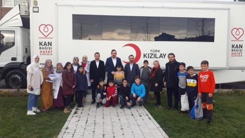 Güzeltepe Gençlik Merkezi öğrencileri, Yardımseverlik KANımızda var, Eyüpsultan Belediyesi