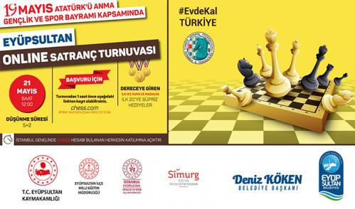 Eyüpsultan Online Satranç Turnuvası 21 Mayıs'ta Başlıyor
