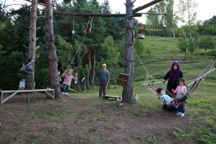 Artvin'deki Zekeriya Amca'ya Eyüpsultan'dan park sürprizi