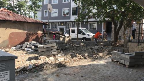 Esentepe Mahallesinde yeni parkın çalışmaları başladı