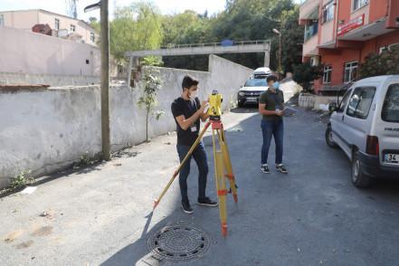 Garaj Üstü Proje Alanı'nda Tespit ve Ölçümlere Başlandı