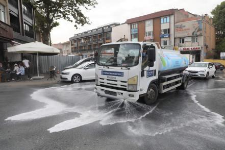 Kemerburgaz Mahallesi'nde Dezenfeksiyon Çalışması