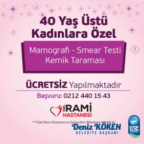 40 Yaş Üstü Kadınlara Ücretsiz Sağlık Hizmeti