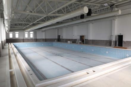 Akşemsettin Yüzme Havuzu inşaatında sona yaklaşıldı