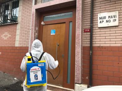 Dezenfekte ekibi, 32 bin 851 yerde dezenfeksiyon çalışması yaptı