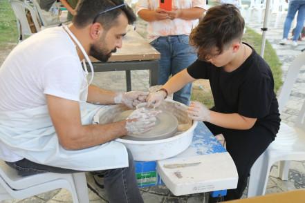 Sanat atölyeleri Nişanca'da kuruldu