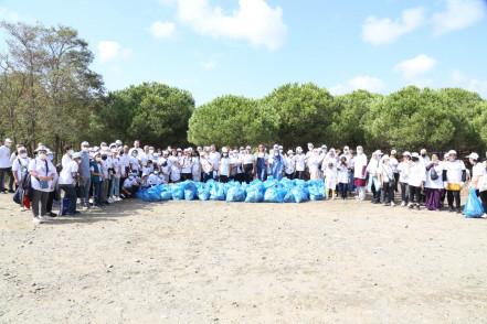 Dünya Temizlik Günü'nde Çiftalan Ormanı'nda çöpler toplandı