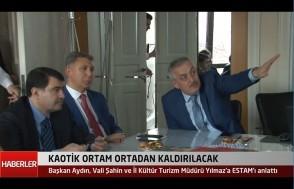 Vali Vasip Şahin'e ESTAM sunumu