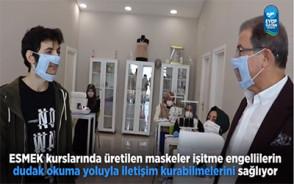 Eyüpsultan Belediyesi İşitme Engelliler İçin Özel Maske Üretti